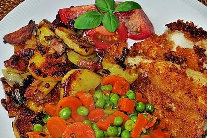 Pangasiusfilet mit Bratkartoffeln (Bild)