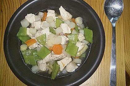 Hühnersuppe mit Spargel 2