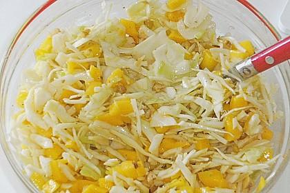 Weißkohl - Mango - Salat 2