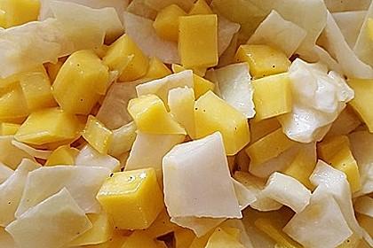 Weißkohl - Mango - Salat