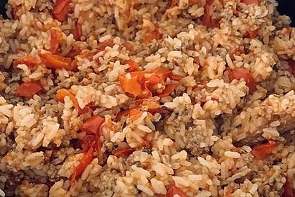 Paprika - Reis - Hackfleisch - Topf (Bild)