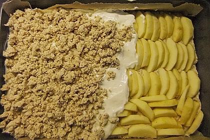Apfel - Nuss - Streusel mit Quarkcreme 6