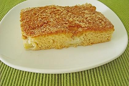 Rhabarber - Blechkuchen  mit Zimtzucker - Streuseln und Milchguss 3