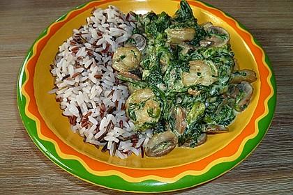 Champignon - Spinat - Pfanne (Bild)