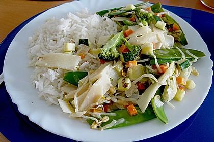 Gemüse mit Currysauce