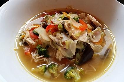 Asiatische Suppe mit Mie Nudeln 7