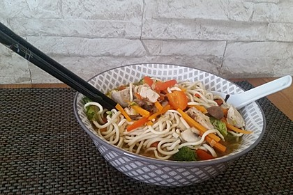 Asiatische Suppe mit Mie Nudeln 11