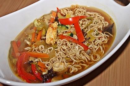 Asiatische Suppe mit Mie Nudeln 10
