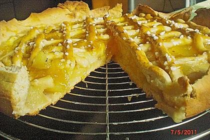 Apfelkuchen aus Hefeteig mit Gittern 28
