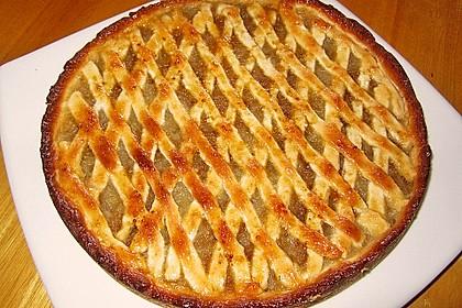 Apfelkuchen aus Hefeteig mit Gittern 20