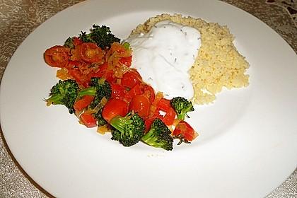 Couscous mit sommerlichem Gemüse