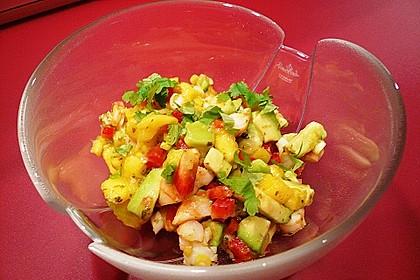 Wolfsbarschfilets auf Garnelen - Avocado - Mango - Salsa 3