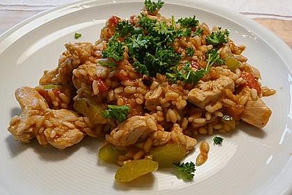 Puten - Paella - Reis - Pfanne