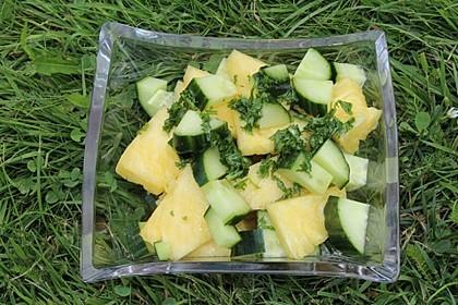 Ananas - Gurken - Salat 4
