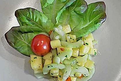 Ananas - Gurken - Salat 8