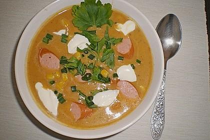Cremige, aber diättaugliche Kartoffelsuppe mit Thymian und Käse 1