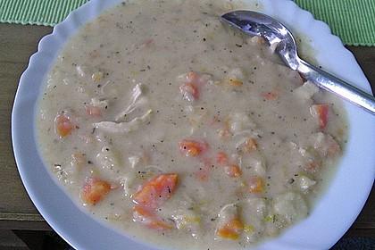 Cremige, aber diättaugliche Kartoffelsuppe mit Thymian und Käse 29