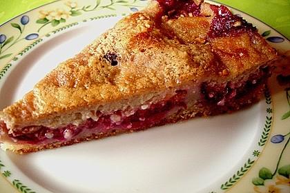 Zwetschgenkuchen mit Sahne - Mandelguss 21