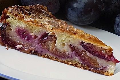 Zwetschgenkuchen mit Sahne - Mandelguss 8