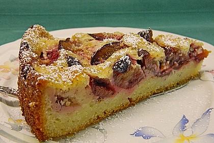 Zwetschgenkuchen mit Sahne - Mandelguss 1