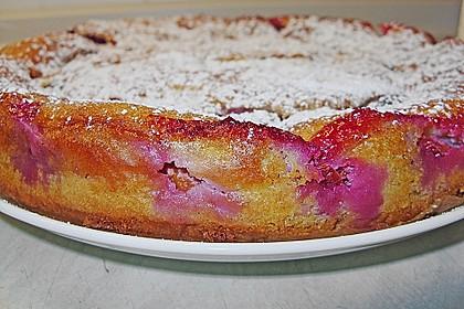 Zwetschgenkuchen mit Sahne - Mandelguss 17