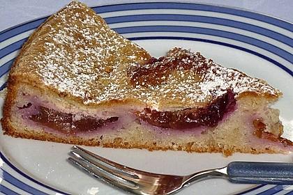 Zwetschgenkuchen mit Sahne - Mandelguss 6