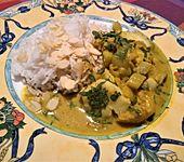 Fischcurry mit Rhabarber (Bild)