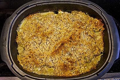 Brokkoli - Blumenkohl - Gratin mit Kruste