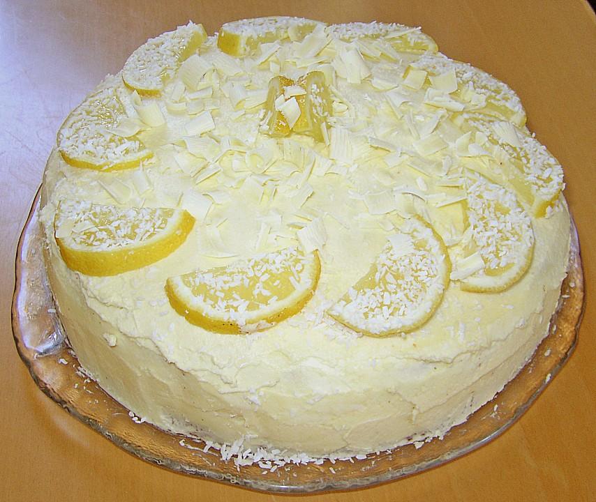 Zitronen Buttercreme Torte Von Feiwer Chefkoch De