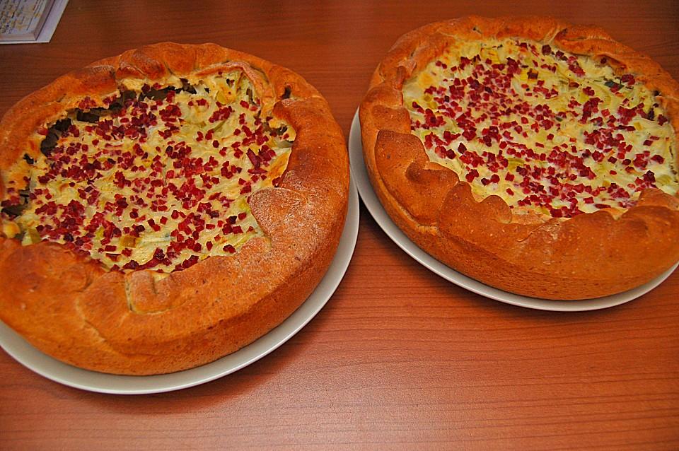Deftiger Zwiebel Lauch Kuchen Chefkoch De