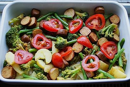 Veganer Gemüse-Tofu-Auflauf 3