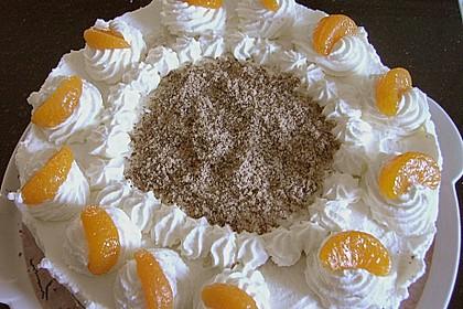 Nuss - Mandarinen - Sahne - Torte