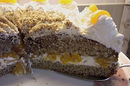 Nuss - Mandarinen - Sahne - Torte 4