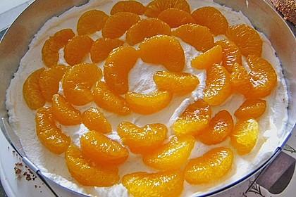 Nuss - Mandarinen - Sahne - Torte 7