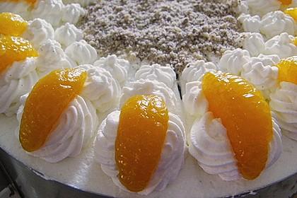 Nuss - Mandarinen - Sahne - Torte 3