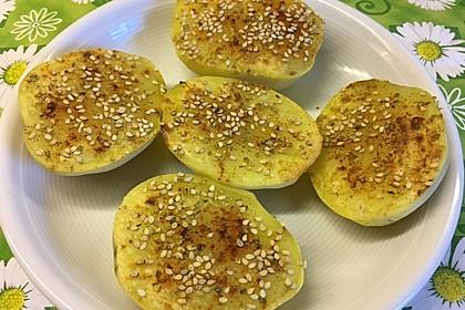 Halbe Ofenkartoffeln
