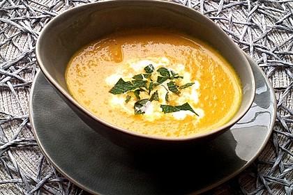 Karotten - Ingwersuppe mit Curry (Bild)