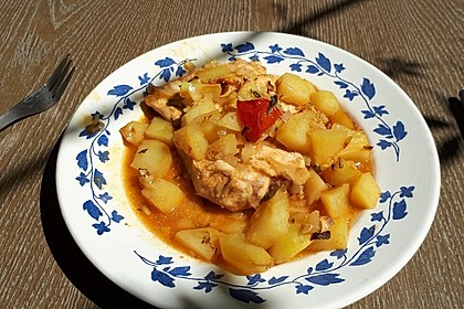 Hähnchen in Barbecuemarinade mit Kartoffeln 6