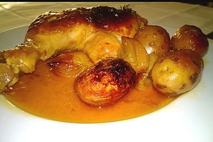 Hähnchen in Barbecuemarinade mit Kartoffeln 1