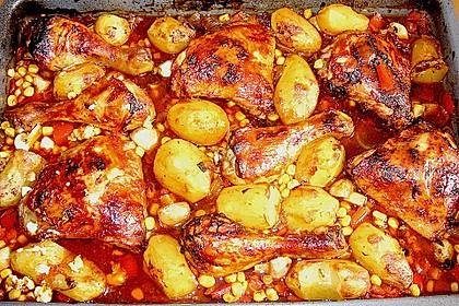 Hähnchen in Barbecuemarinade mit Kartoffeln 25