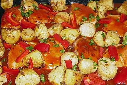 Hähnchen in Barbecuemarinade mit Kartoffeln 15