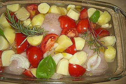 Hähnchen in Barbecuemarinade mit Kartoffeln 21