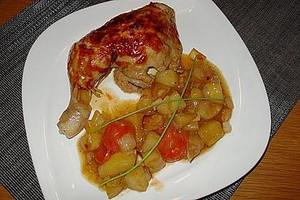 Hähnchen in Barbecuemarinade mit Kartoffeln 10