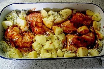 Hähnchen in Barbecuemarinade mit Kartoffeln 32