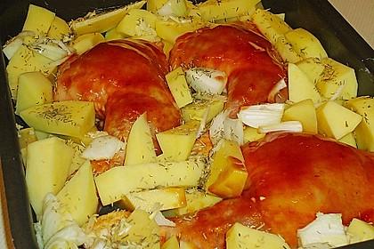 Hähnchen in Barbecuemarinade mit Kartoffeln 19