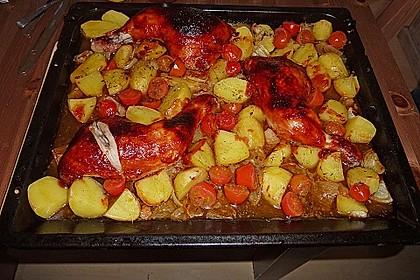 Hähnchen in Barbecuemarinade mit Kartoffeln 17