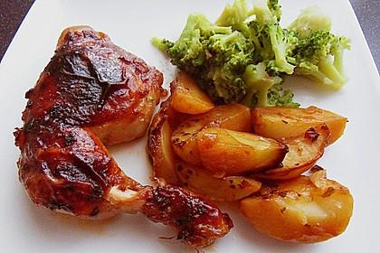 Hähnchen in Barbecuemarinade mit Kartoffeln 7