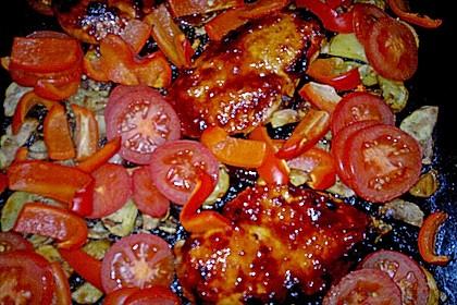 Hähnchen in Barbecuemarinade mit Kartoffeln 33