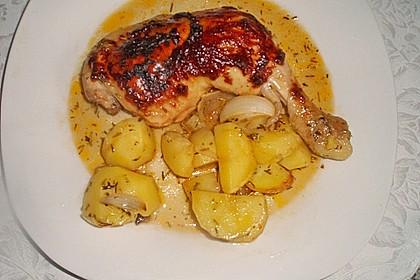 Hähnchen in Barbecuemarinade mit Kartoffeln 20