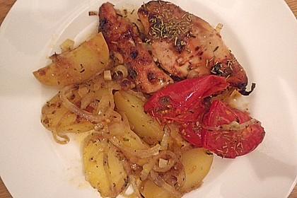 Hähnchen in Barbecuemarinade mit Kartoffeln 13